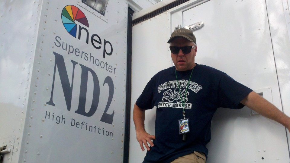 Guarding the door of the NEP ND2 truck in Hawaii